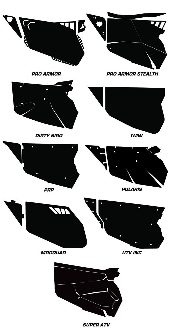 AMR Racing Door Graphics Kit for Polaris RZR 1000, 1000xp, 2013,2014
