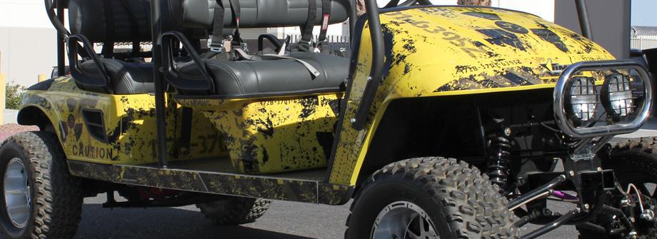 AMR Racing Golf Cart Graphics