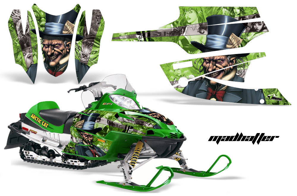 Wraps for arctic cat f series sabercat firecat snowmobile for Yamaha f6 price