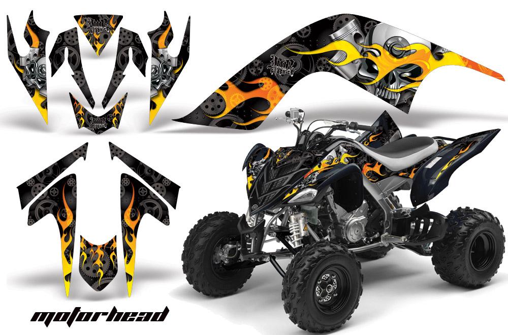 yamaha raptor 700 atv quad graphic kit fits yamaha raptor. Black Bedroom Furniture Sets. Home Design Ideas