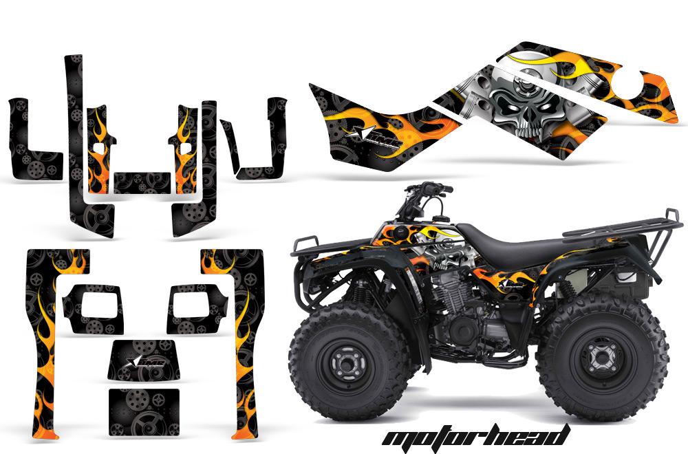 Kawasaki Bayou 250/300 ATV Quad Graphic Kit on