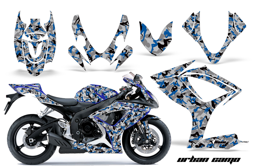 2006 2007 Suzuki Gsx R600 R750 Street Bike Graphic Decal