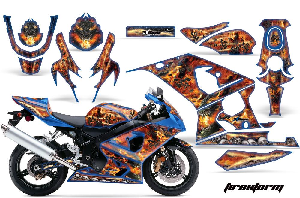 2004 2005 Suzuki Gsx R600 R750 Street Bike Graphic Decal Sticker