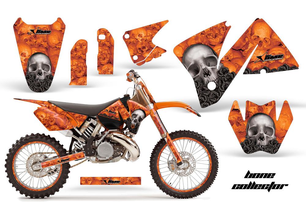 2001-2002 ktm motocross graphic decal sticker kit - 4 stroke, 2