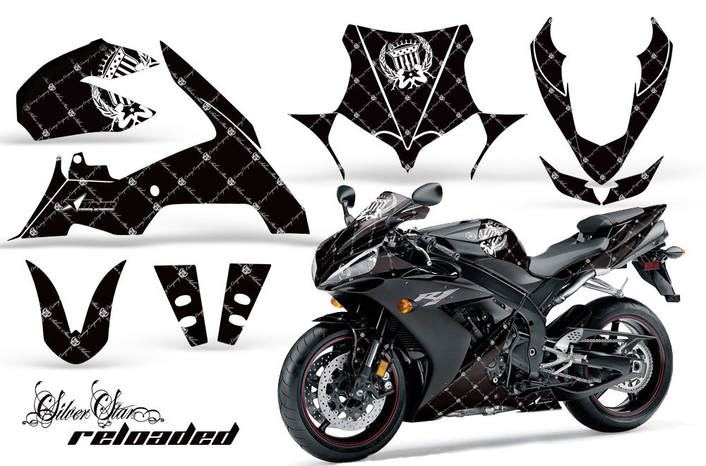 2004 2005 Yamaha R1 Street Bike Graphic Decal Sticker Kit