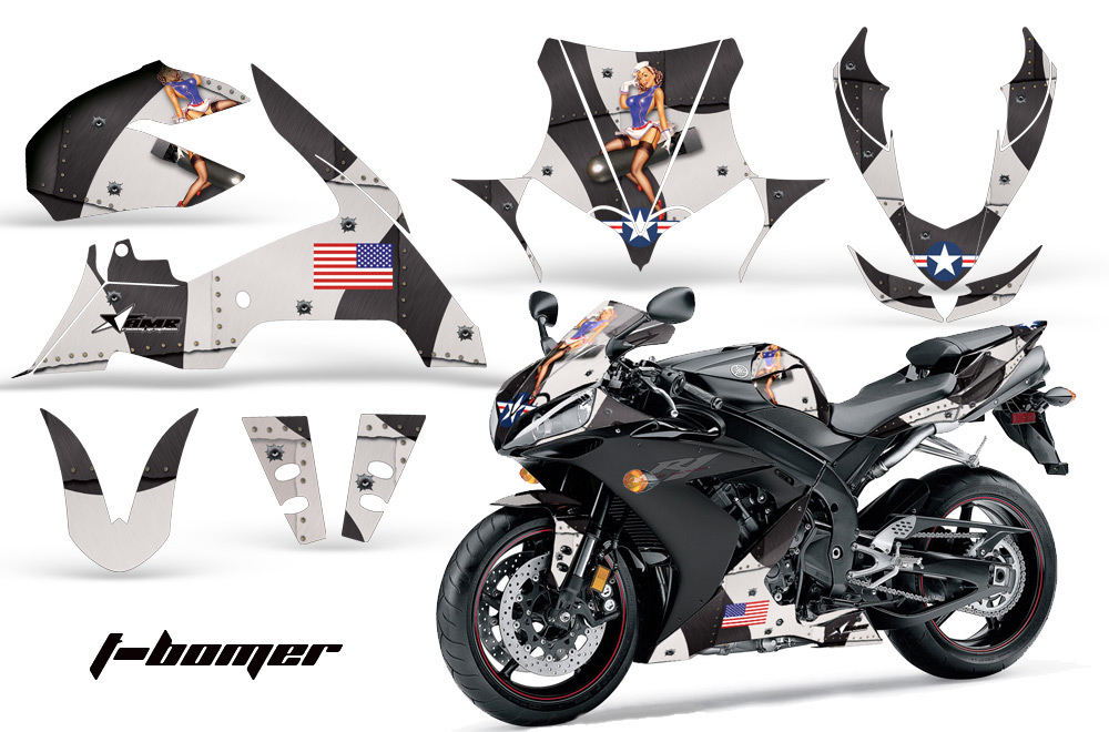 Yamaha R Street Bike Graphic Decal Sticker Kit - Custom motorcycle stickers kits