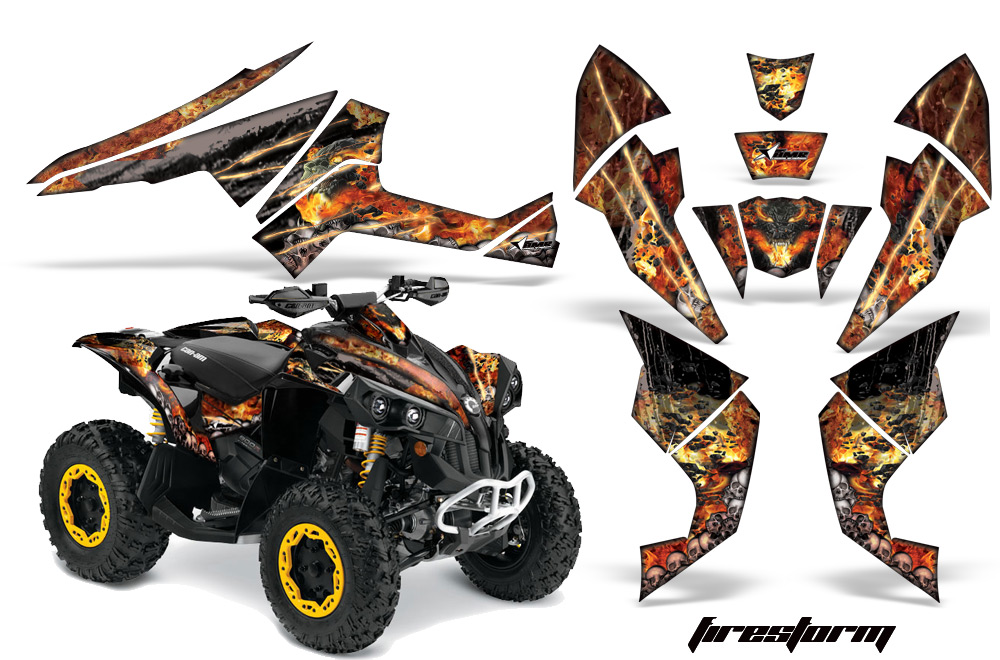 Can Am Renegade 1000 >> Can-Am Renegade 500x/r 800x/r 1000 ATV Quad Graphic Kit