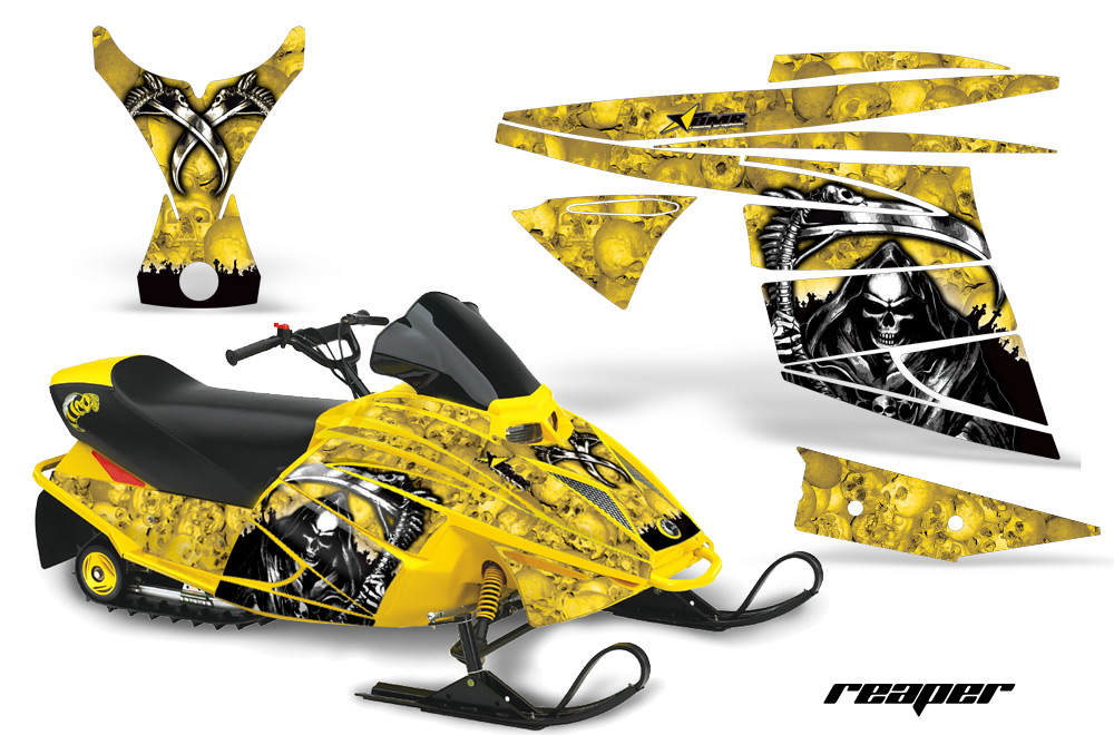 Ski Doo Mini Z Sled Snowmobile Graphic Wrap Kit 2003-2008