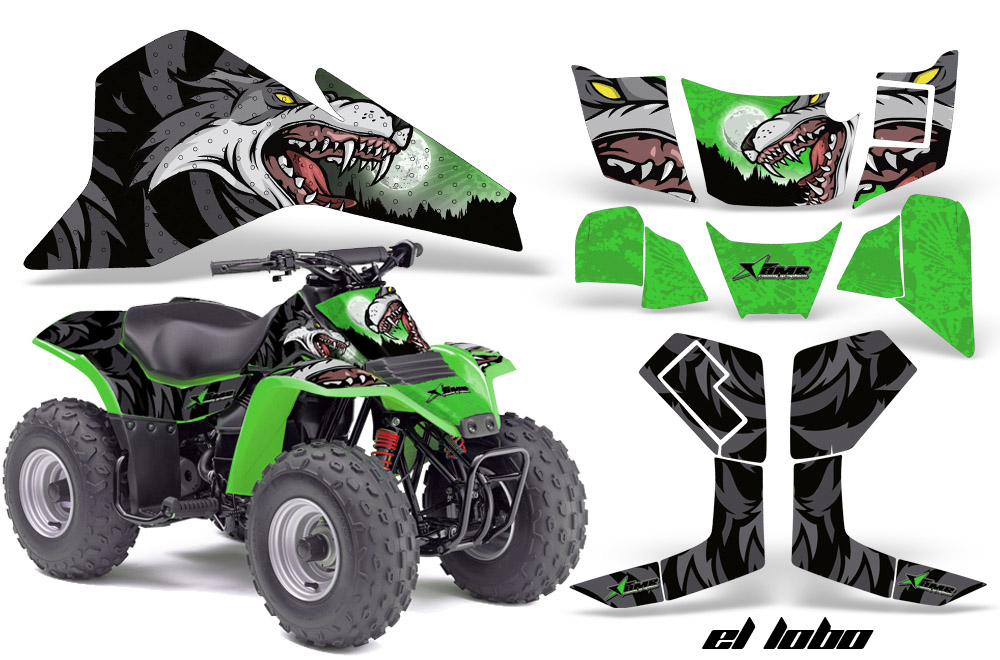Kawasaki KFX80 Quad ATV Graphics sticker decal Kit
