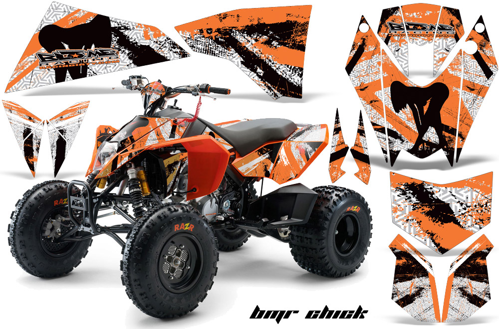 ktm atv quad graphic sticker decal kit. Black Bedroom Furniture Sets. Home Design Ideas