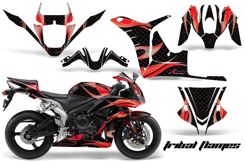 2007 2008 honda cbr600rr street bike graphic decal sticker kit 07 08