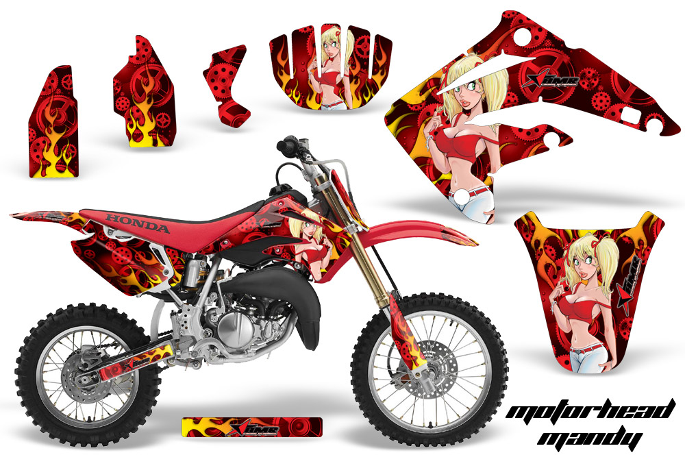 Honda Cr85 Graphic Kit Stickers And Decals Honda Cr85 Graphics