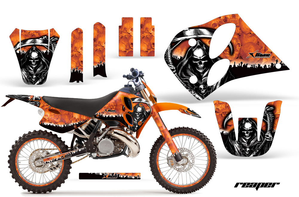 1993 1997 ktm motocross graphic decal sticker kit 2 stroke 125250300360 9394959697