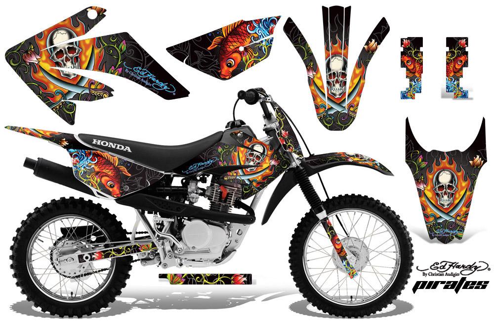 Honda CRF CRF Dirt Bike Decals Honda CRF CRF - Decal graphics for dirt bikes