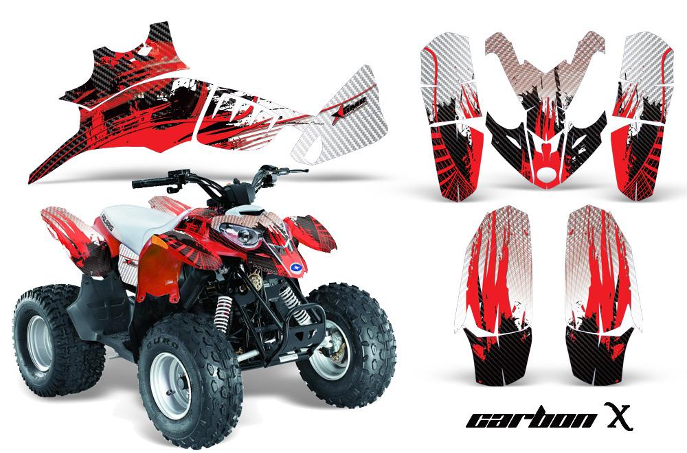 Can Am Four Wheeler >> ATV Quad Graphic Sticker Kit for Polaris Outlaw and Predator 90