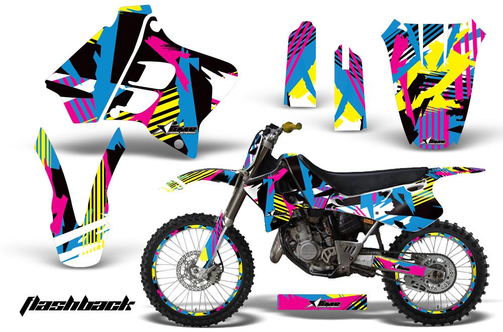 Yamaha YZ125 YZ250 2 Stroke Motocross Graphic Kit - 1993-1995 on lt300e wiring, suzuki 250 atv wiring, 1992 suzuki 250 quad wiring, 1986 lt250r wiring,