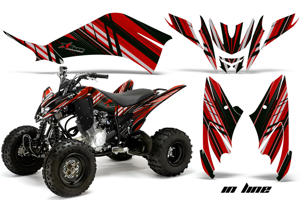 yamaha raptor 125 quad atv graphic kit 2011 2014. Black Bedroom Furniture Sets. Home Design Ideas