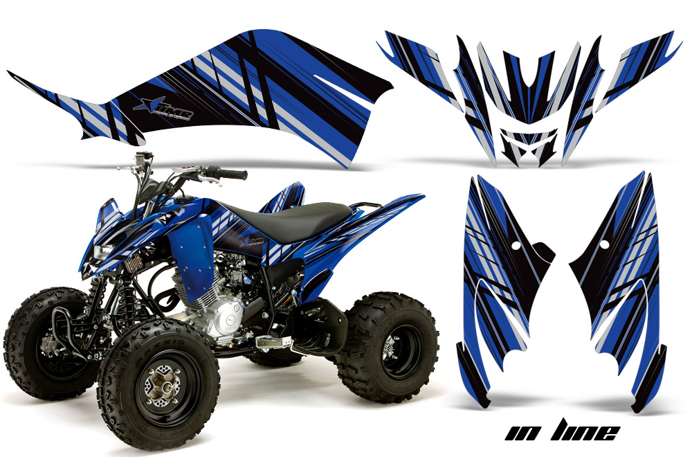premium quality amr racing graphics for the yamaha raptor 125 atv quad toughest thickest and. Black Bedroom Furniture Sets. Home Design Ideas