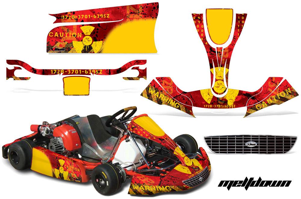 Righetti Ridolfi Xtr14 Body Kart Graphic Sticker Kit Rr