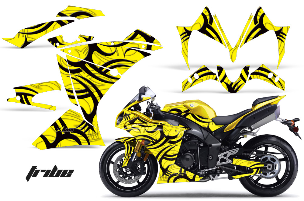 Yamaha R1 Sport Bike Graphic Kit 2010 2012 314 on yamaha golf cart templates