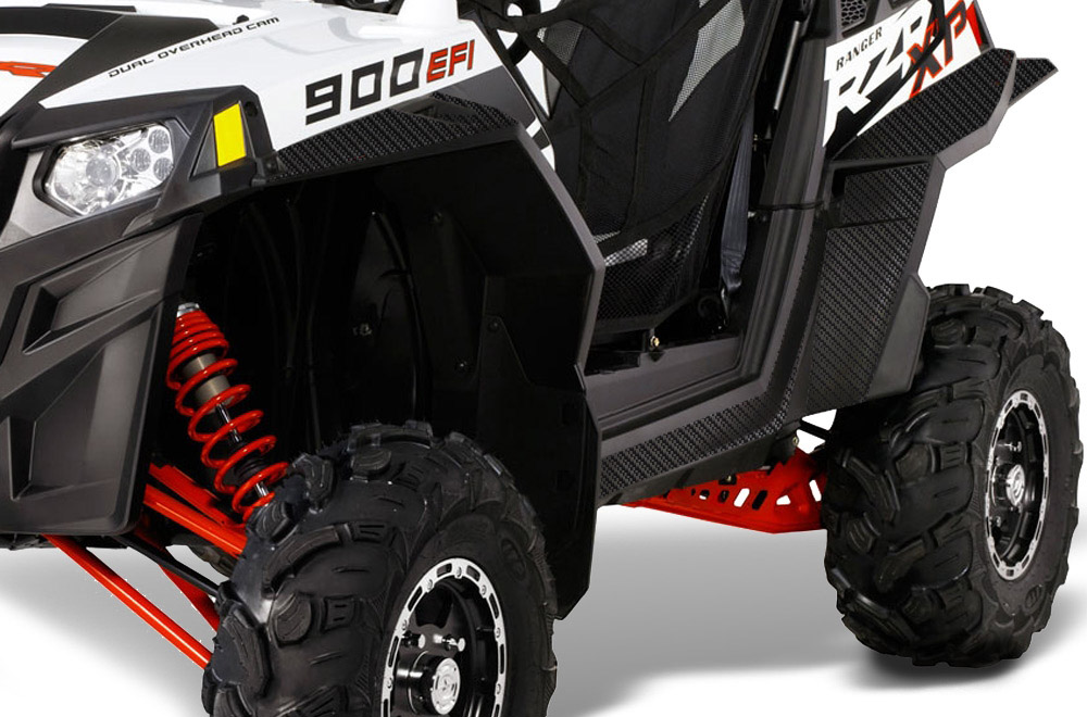 RZR900 AMR Racing Side x Side Door UTV Graphic Kit Carbon