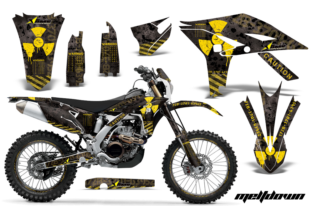 Yamaha Motocross Graphic Sticker Kit 2012 2015 Yamaha Mx Wr450