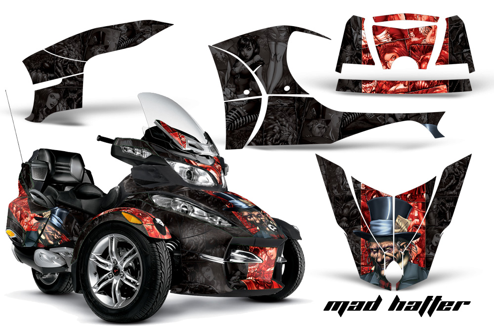 Can Am BRP (RTS) Spyder Graphic Kit with Trim Kit 2010-2012 - 1622 ...