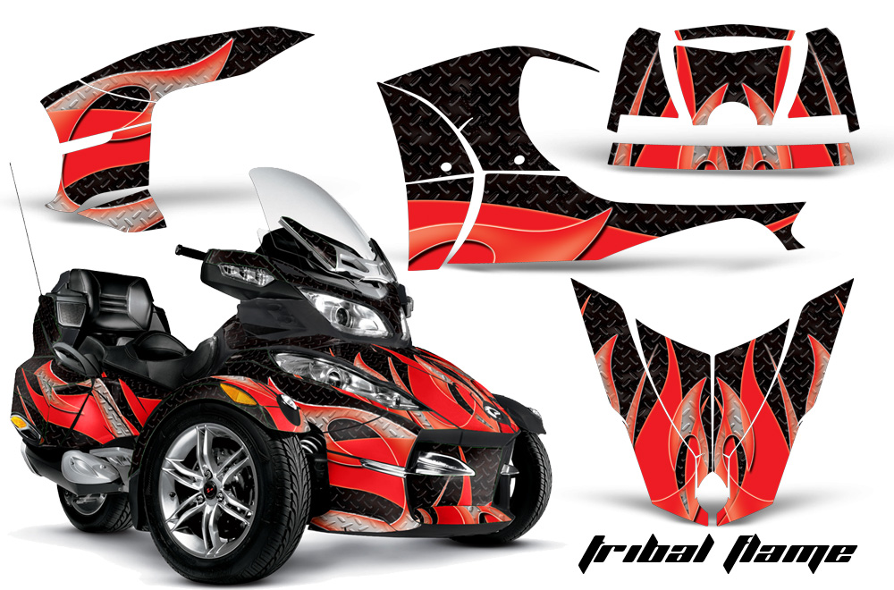 Can Am Brp Rts Spyder Graphic Kit With Trim Kit 2010 2012