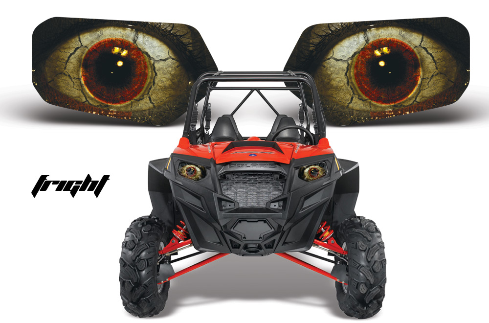 AMR Racing Head Light Graphic Kit Polaris RZR, all models