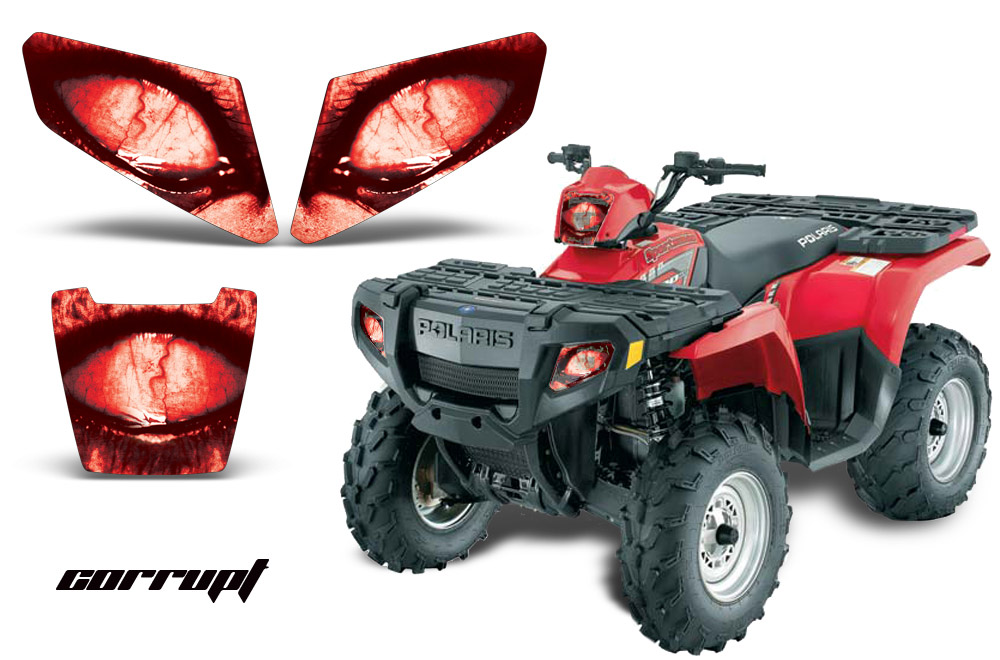 2005 Polaris Sportsman 500 >> Head Light Eye Graphics for 2005-2010 Polaris Sportsman 500/800, 3 Piece. 6 Designs to Choose ...