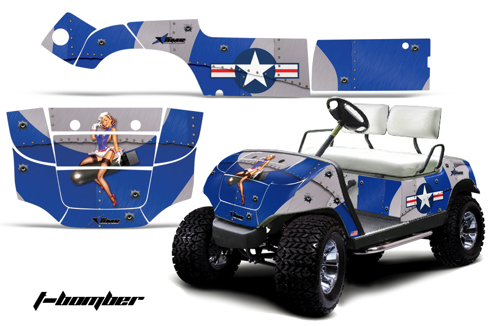 Yamaha Golf Cart Graphic Kit 1995 2006 Many Designs To Choose From 360on Arctic Cat Atv Accessories