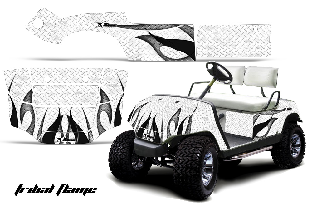 Custom Yamaha Golf Cart Graphics Wrap Kits In Over 40