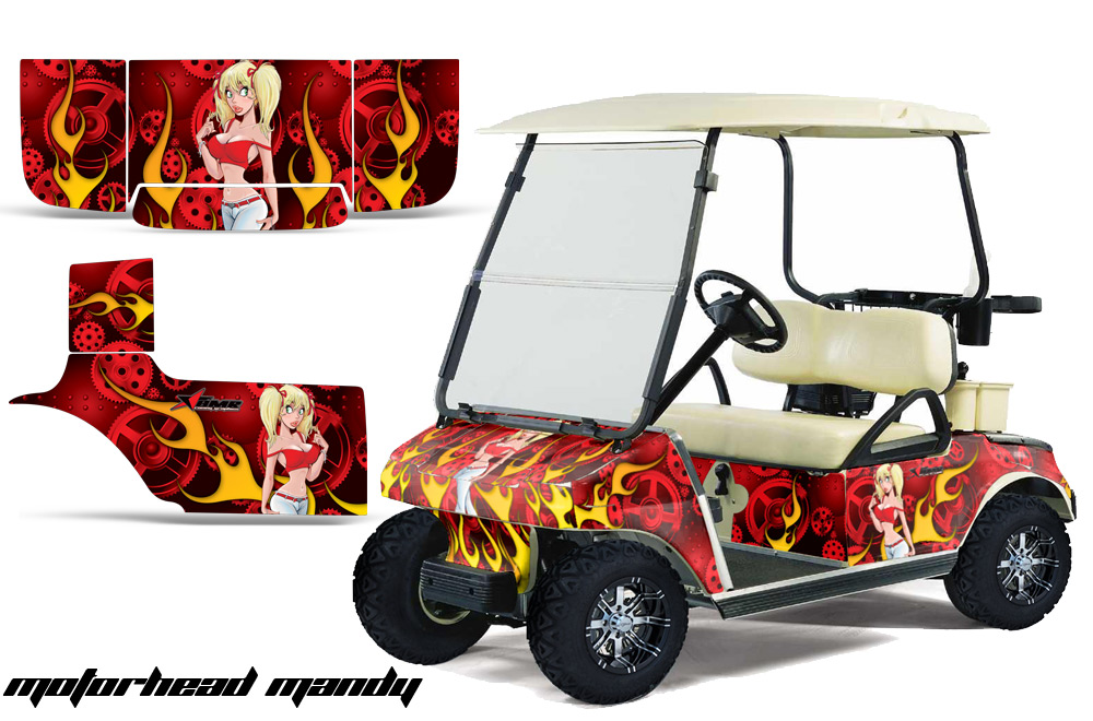 custom club car golf cart graphics wrap kits in over 40 designs available. Black Bedroom Furniture Sets. Home Design Ideas