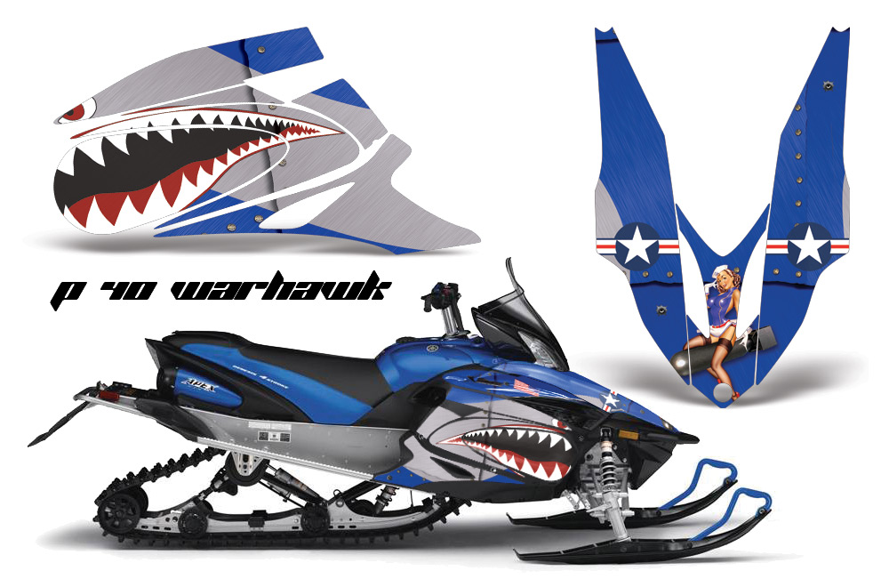2006 2010 yamaha apex sled graphic kit by amr racing over