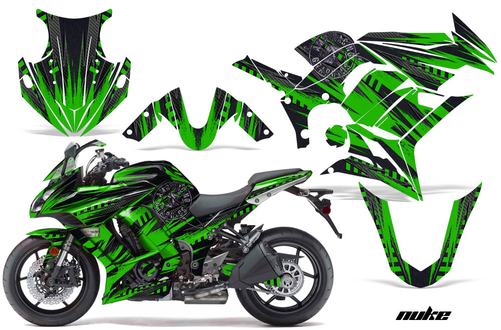 Kawasaki ZX Ninja Sport Bike Graphic Kit Ninja - Kawasaki motorcycles stickers