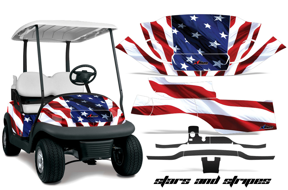 Club car precedent golf cart graphics 2008 2013 wrap kits in over 40 designs available