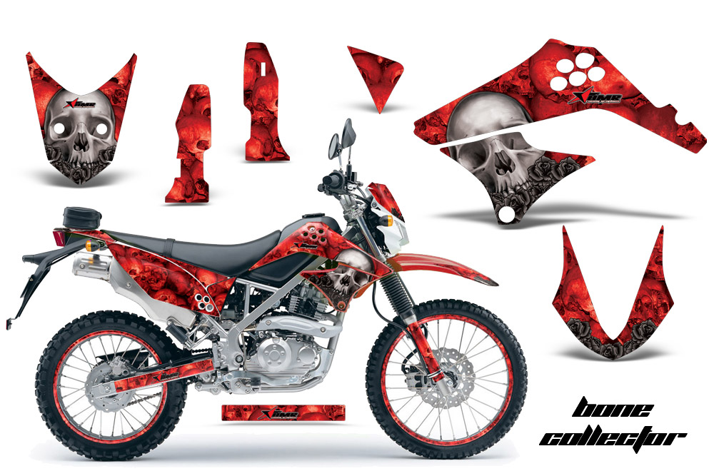 2010 2016 Klx125 D Tracker Graphics Kit Kawasaki Motocross