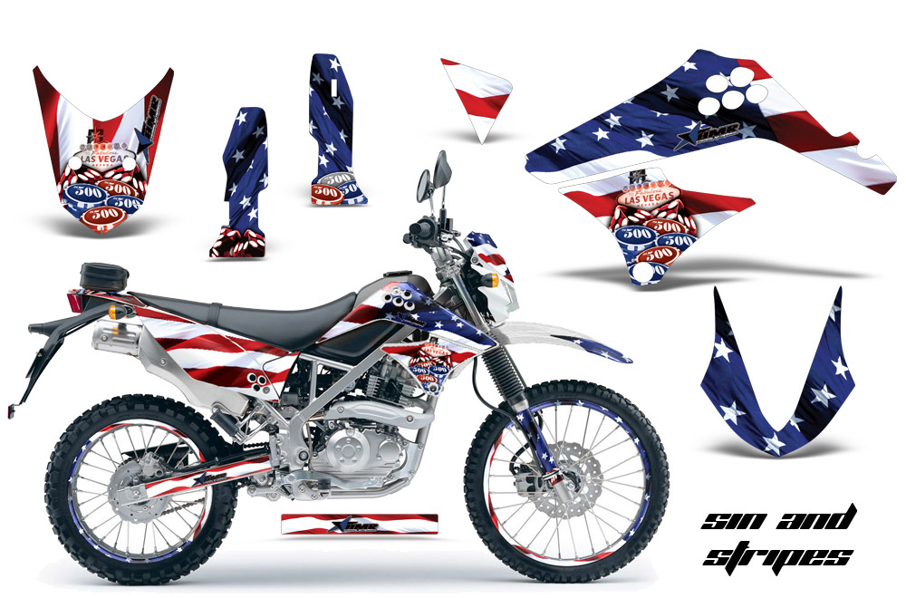 2010-2016 klx125, d-tracker graphics kit. kawasaki motocross