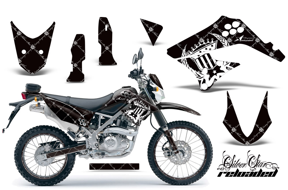 KLX DTracker Graphics Kit Kawasaki Motocross - Kawasaki motorcycles stickers