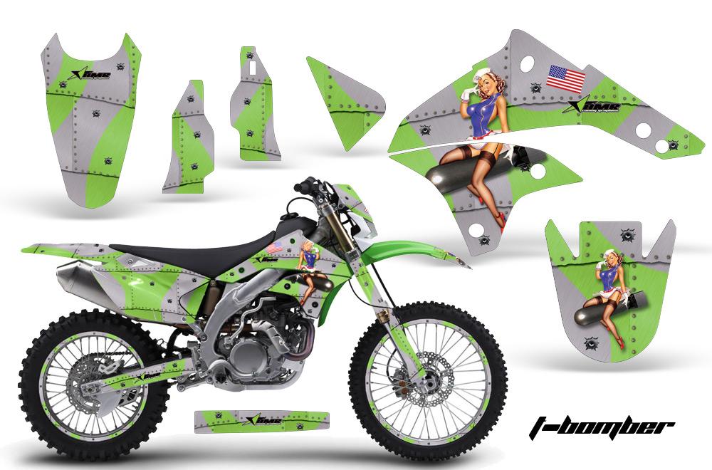 2008-2016 klx450 graphics kit. kawasaki motocross graphic sticker