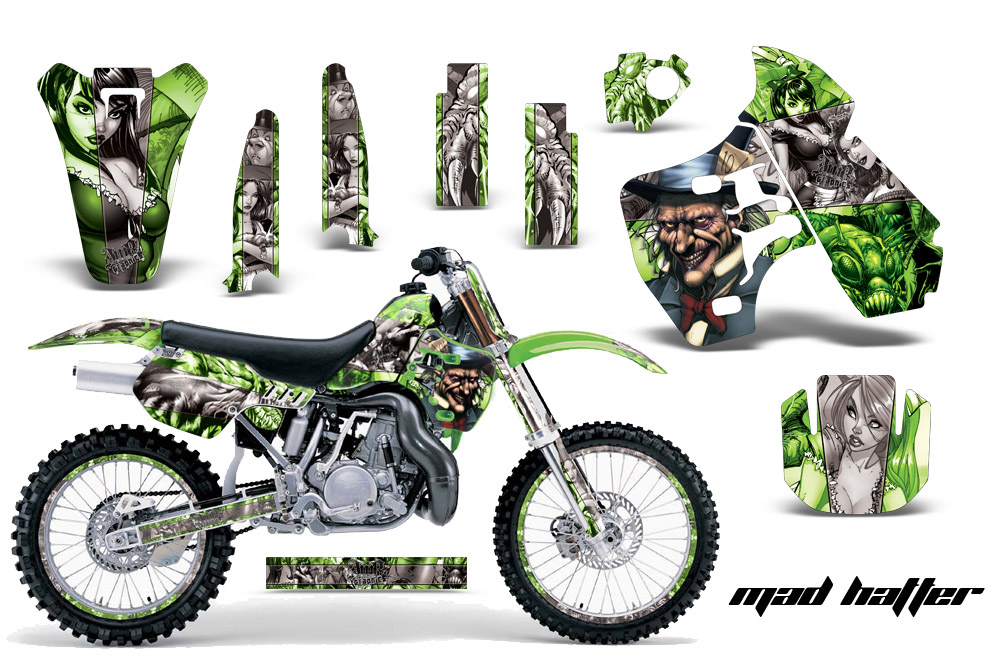 1988-2004 kx500 graphics kit. kawasaki motocross graphic sticker