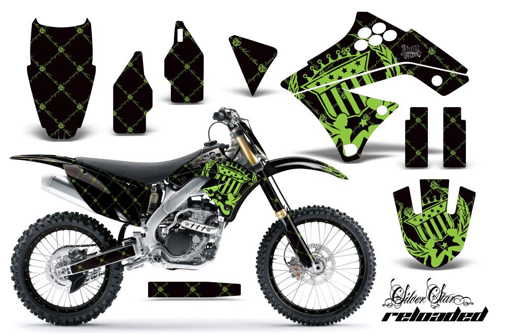 2009-2012 kx250f graphics kit! kawasaki motocross graphic sticker