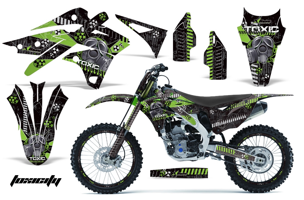 KXF Graphics Kit Kawasaki Motocross Graphic Sticker - Decal graphics for dirt bikes