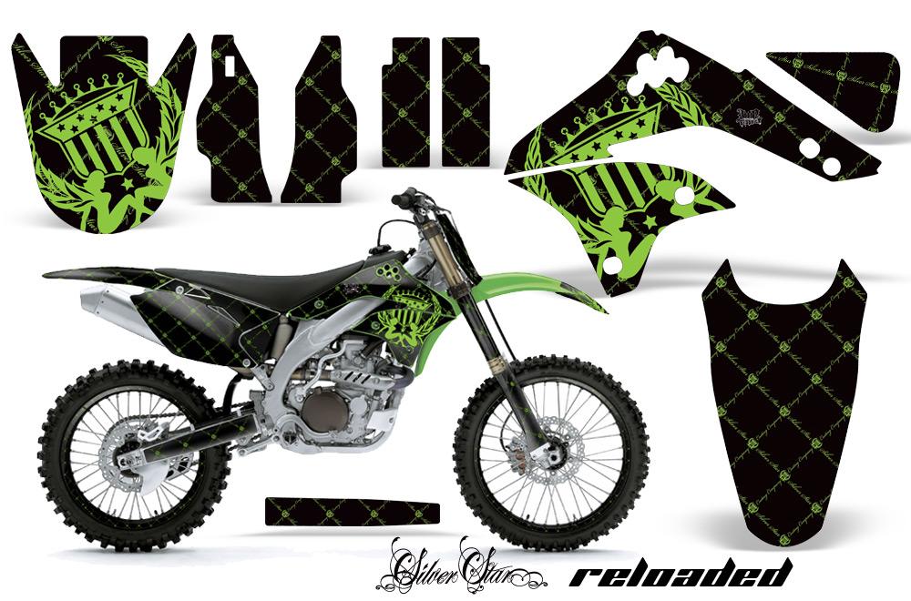 06 08 kxf450 graphics kit kawasaki motocross graphic sticker decal kit kawasaki mx graphics