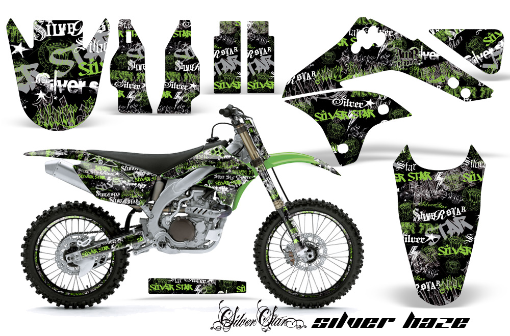 06-08 kxf450 graphics kit. kawasaki motocross graphic sticker