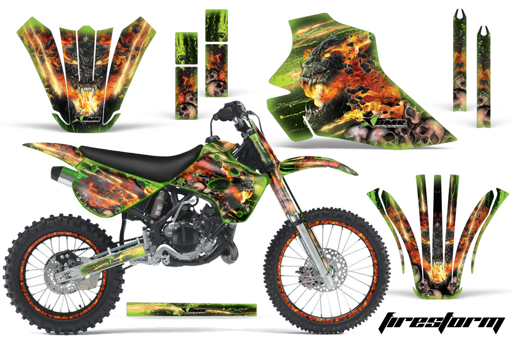 19951997 KX80100 Graphics kit Kawasaki Motocross Graphic – Kx 100 Engine Diagram