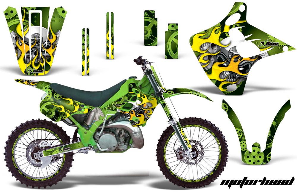 1990-1991 KX125-KX250 Graphics kit. Kawasaki Motocross ...
