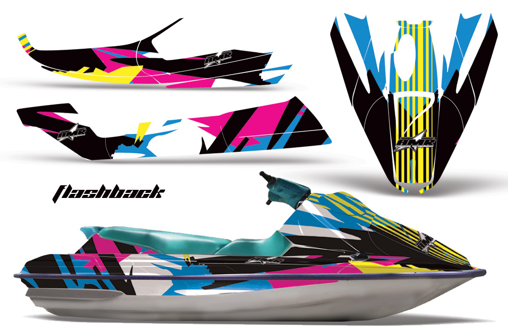 Sea Doo Bombardier Jet Ski Graphic Kit 1992 1997 Over 40