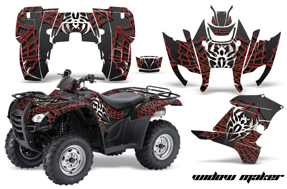 07 14 honda rancher rancher at atv sticker decal quad graphic kits