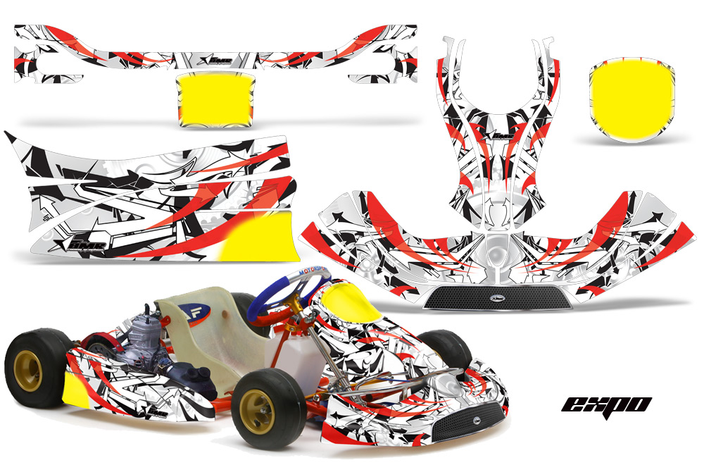 Kg Freeline Birel Kart Graphic Decal Kit 452on Arctic Cat Atv Accessories